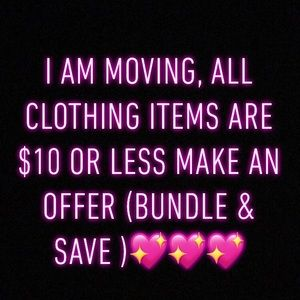 Moving sale 🥰🤭